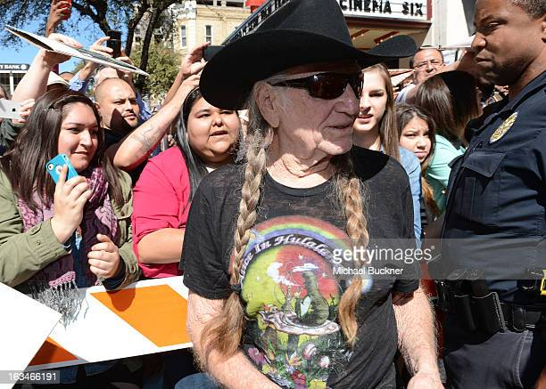 """Musician Willie Nelson attends the screening of """"When Angels Sing"""" during the 2013 Music, Film + Interactive Festival at the Paramount Theatre on..."""