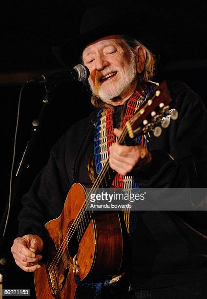 Musician Willie Nelson performs at the 19th Annual 'Hollywood Charity Horse Show' at the Los Angeles Equestrian Center on April 25 2009 in Burbank...