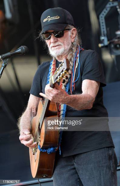 Musician Willie Nelson performs during the Oklahoma Twister Relief Concert to benefit United Way of Central Oklahoma May Tornadoes Relief Fund at...