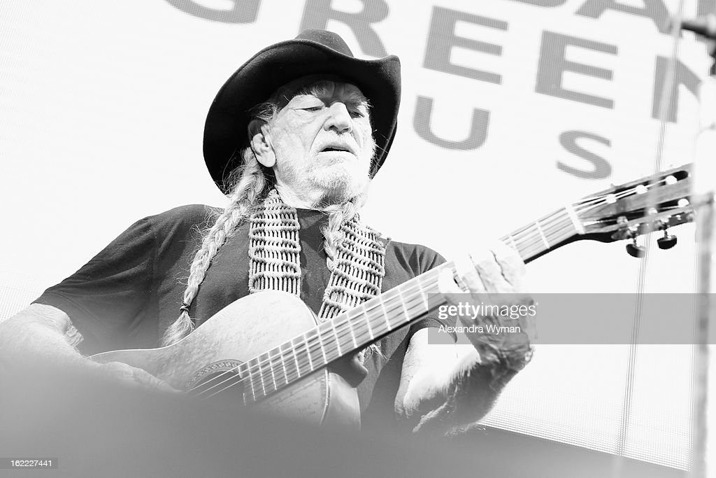 Musician Willie Nelson performs onstage at Global Green USA's 10th Annual Pre-Oscar Party at Avalon on February 20, 2013 in Hollywood, California.