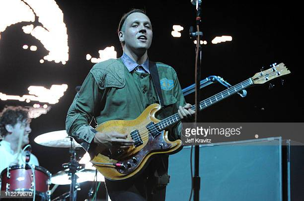 Musician Win Butler of Arcade Fire performs during Day 2 of the Coachella Valley Music Arts Festival 2011 held at the Empire Polo Club on April 16...