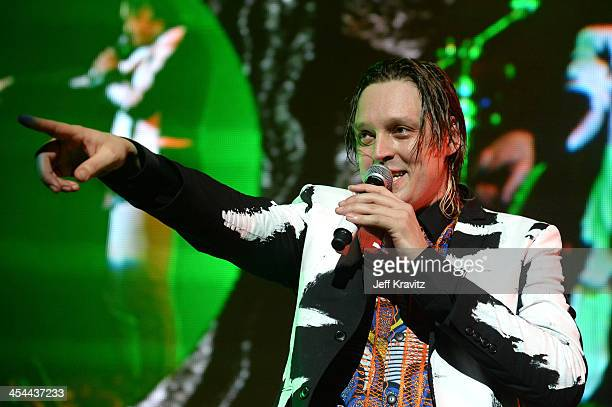 Musician Win Butler of Arcade Fire performs onstage at the 24th Annual KROQ Almost Acoustic Christmas at The Shrine Auditorium on December 8 2013 in...