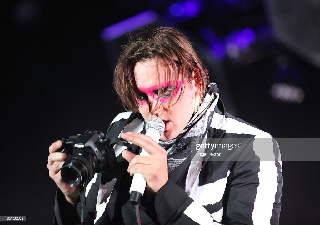 Musician Win Butler of Arcade Fire performs onstage during day 3 of the 2014 Coachella Valley Music & Arts Festival at the Empire Polo Club on April 13, 2014 in Indio, California.