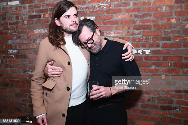 Musician Winston Marshall and Billy Reid attend the Billy Reid Autumn/Winter 2017 Speakeasy at The Cellar at The Beekman on January 30 2017 in New...