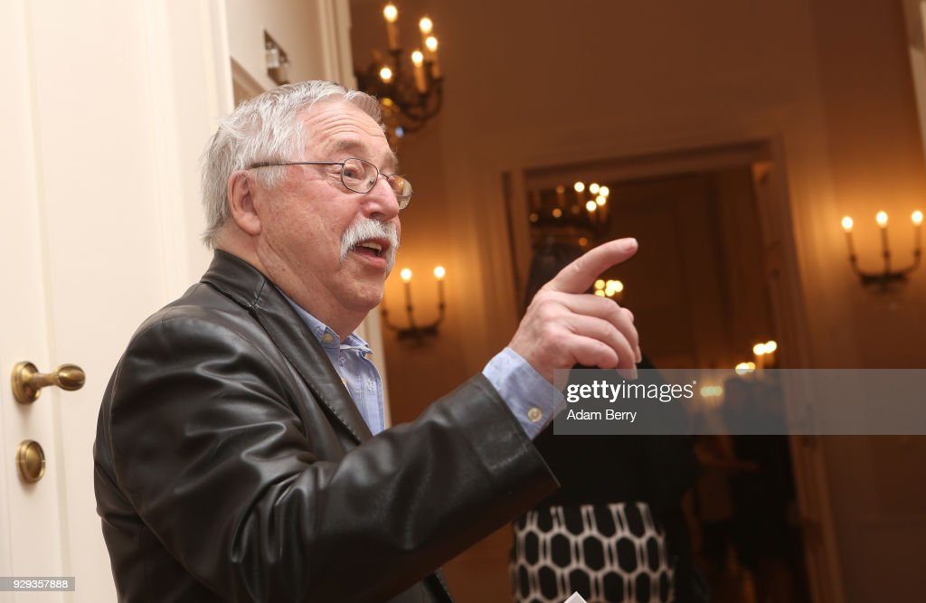 Musician Wolf Biermann attends a dinner in honor of former German President Horst Koehler during his 75th birthday at Bellevue Palace on March 8, 2018 in Berlin, Germany. Koehler was president of Germany from 2004 to 2010.