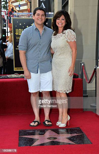 Musician Wolfgang Van Halen with his mother Valerie Bertinelli who was honored with the 2,476th Star on the Hollywood Walk of Fame in the Category of...