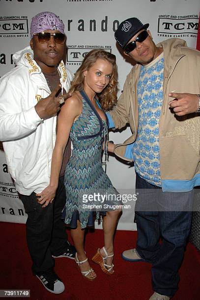 Musician Won G actress Jacqueline Millerand musician Young Dre attend the premiere screening and party for TCM's Brando at the Egyptian Theater April...
