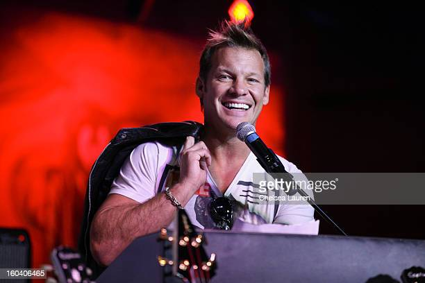 Musician / wrestler Chris Jericho attends the Revolver Golden Gods Awards press conference at Hard Rock Cafe Hollywood on January 30 2013 in...