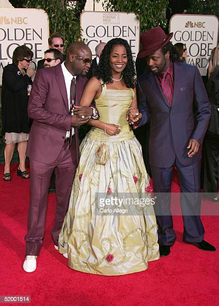 Musician Wyclef Jean and wife Marie Claudinette and Jerry Wonder arrive to the 62nd Annual Golden Globe Awards at the Beverly Hilton Hotel January 16...