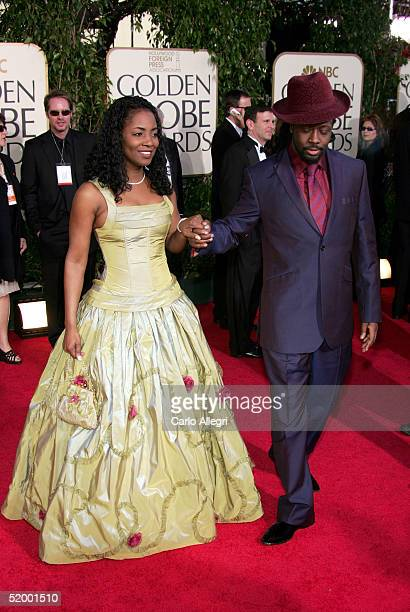 Musician Wyclef Jean and wife Marie Claudinette arrive to the 62nd Annual Golden Globe Awards at the Beverly Hilton Hotel January 16 2005 in Beverly...