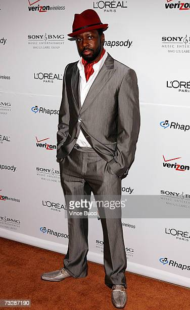 Musician Wyclef Jean arrives at the Clive Davis preGrammy party held at the Beverly Hilton on February 10 2007 in Beverly Hills California