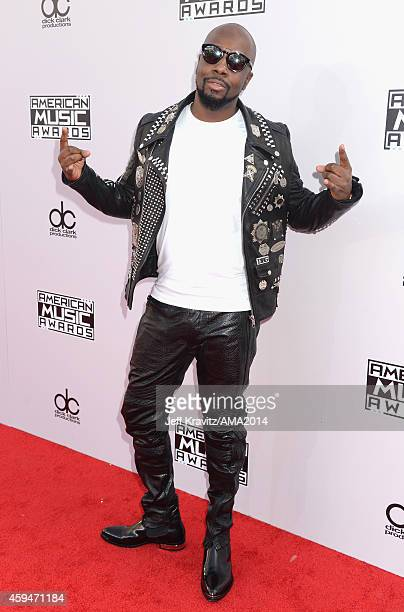 Musician Wyclef Jean attends the 2014 American Music Awards at Nokia Theatre LA Live on November 23 2014 in Los Angeles California