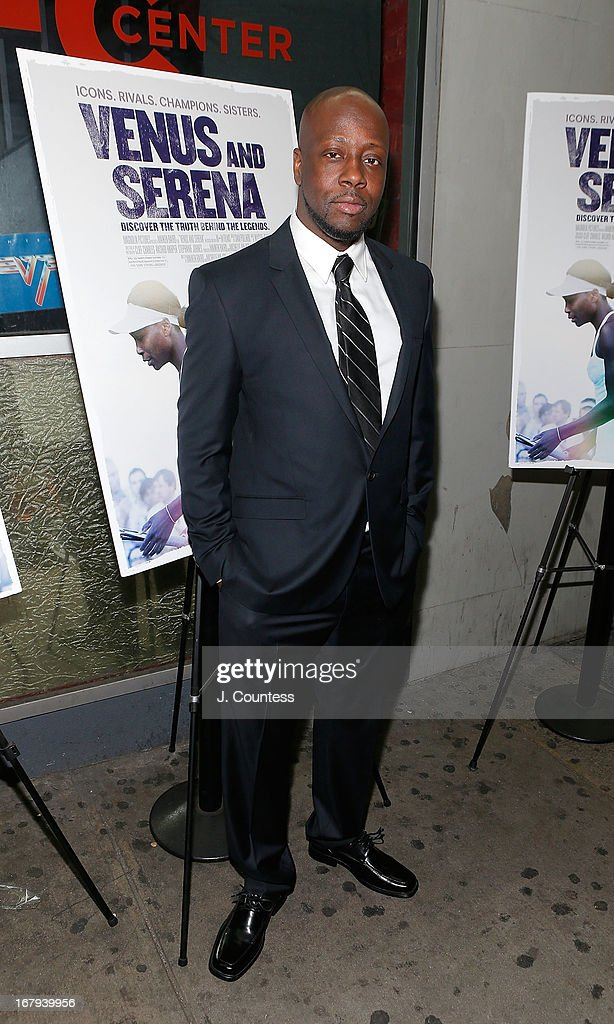 Musician Wyclef Jean attends the New York screening of 'Venus and Serena' at IFC Center on May 2, 2013 in New York City.