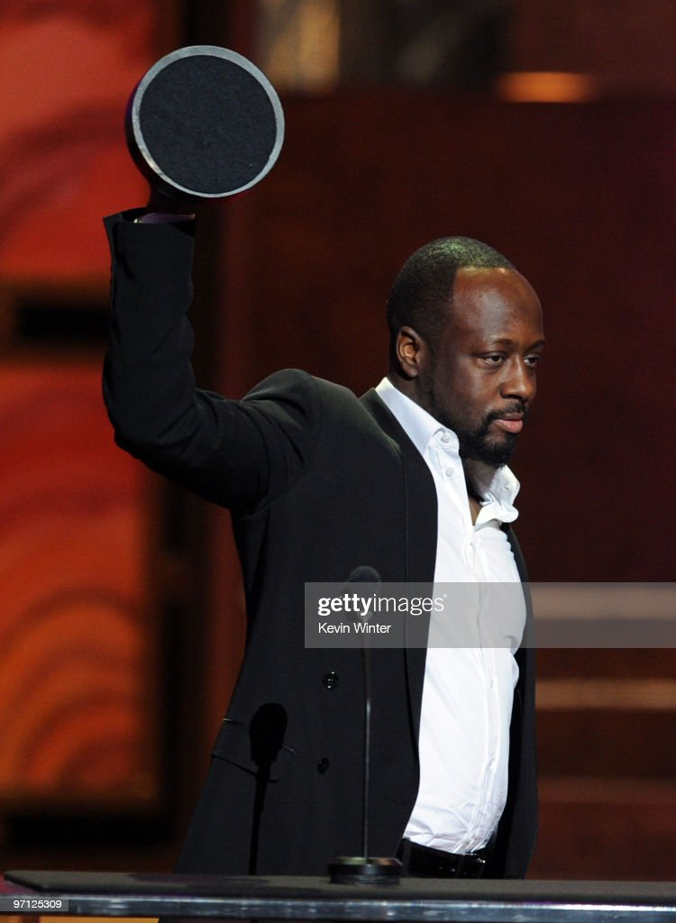 Musician Wyclef Jean onstage with his Vanguard Award during the 41st NAACP Image awards held at The Shrine Auditorium on February 26, 2010 in Los Angeles, California.