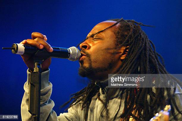 """Musician Wyclef Jean performs during """"Words and Music in Honor of Fahrenheit 9/11"""" on January 6, 2005 at the House of Blues in West Hollywood,..."""