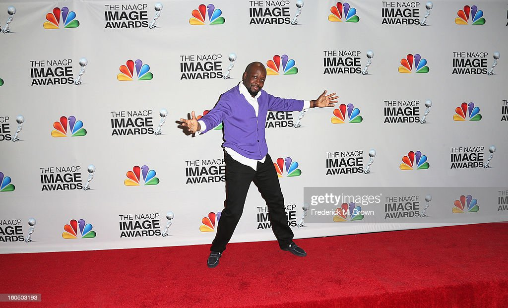 Musician Wyclef Jean poses in the press room during the 44th NAACP Image Awards at The Shrine Auditorium on February 1, 2013 in Los Angeles, California.