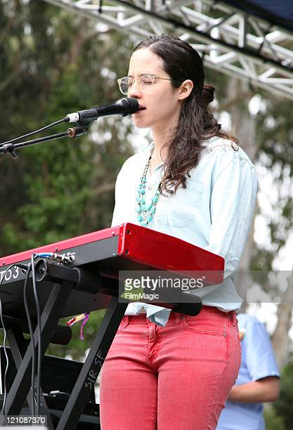 Musician Ximena Sarinana performs at the Panhandle Solar Stage during the 2011 Outside Lands Music And Arts Festival at Golden Gate Park on August 13...