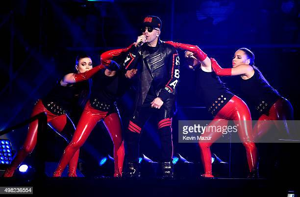 Musician Yandel performs on stage at Roc Nation Sports Golden Boy Promotions Miguel Cotto Promotions And Canelo Promotions Present Miguel Cotto vs...