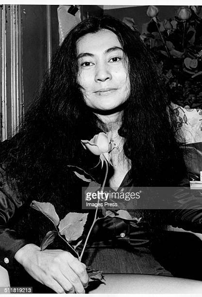 Musician Yoko Ono photographed at Kenny's Castaways prior to her concert tonight on October 23 1973