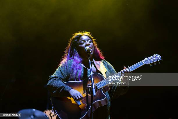 Musician Yola opens for Orville Peck Summertime Tour at Red Rocks Amphitheatre on July 22, 2021 in Morrison, Colorado.