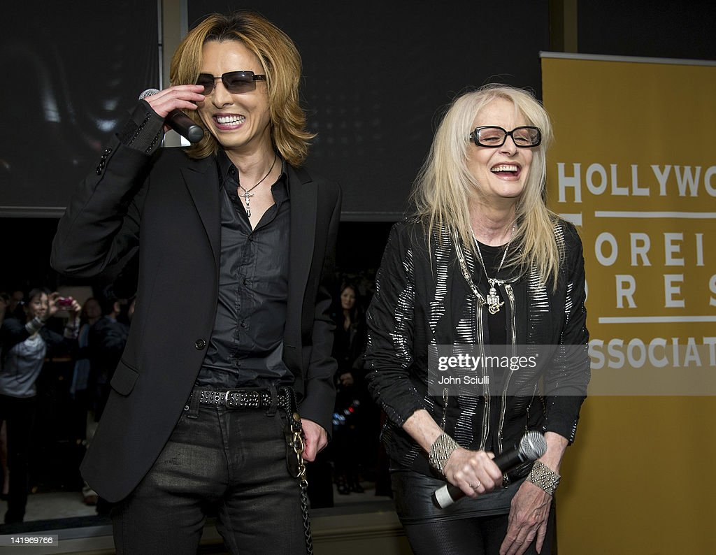 HFPA's Golden Globe Awards Theme Song Listening Party with Yoshiki in West Hollywood : News Photo