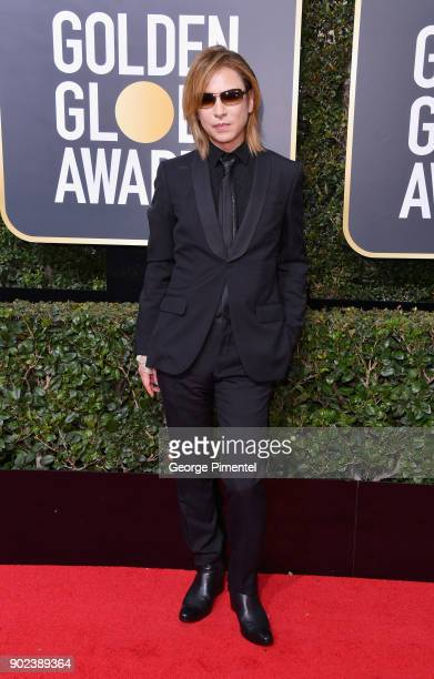 Musician Yoshiki attends The 75th Annual Golden Globe Awards at The Beverly Hilton Hotel on January 7 2018 in Beverly Hills California