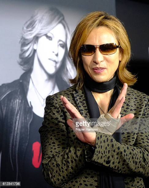Musician Yoshiki attends the Premiere of Drafthouse Films' We Are Xat TCL Chinese Theatre on October 3 2016 in Hollywood California