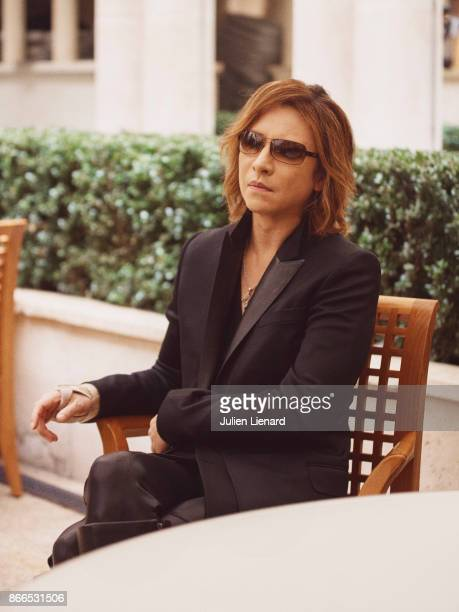 Musician Yoshiki is photographed for Self Assignment on October 2017 in Paris France