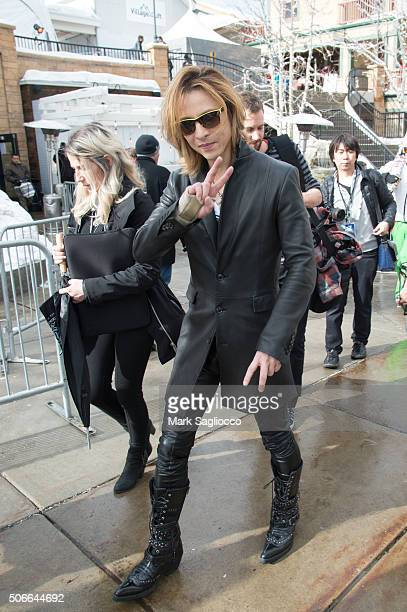 Musician Yoshiki is seen around town at the Sundance Film Festival on January 24 2016 in Park City Utah