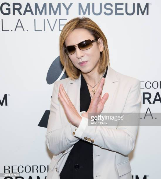 Musician Yoshiki of X Japan attends Reel to Reel We Are X on April 18 2018 in Los Angeles California
