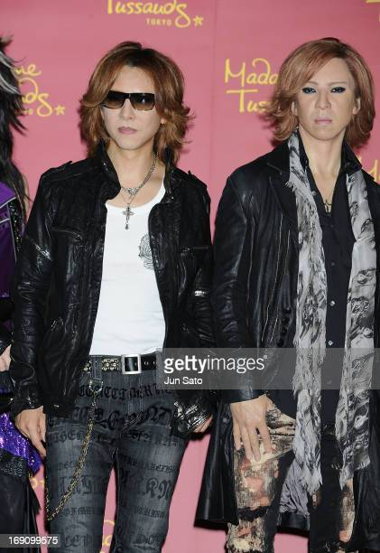 Musician Yoshiki of X Japan attends the X Japan wax figure unveiling press conference at Madame Tussauds on May 20 2013 in Tokyo Japan