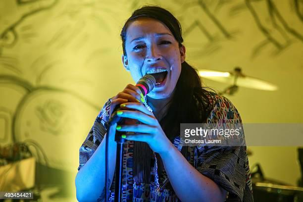 Musician Yukimi Nagano of Little Dragon performs at Nabuma Comics a Tumblr IRL featuring Swedish indie rockers Little Dragon at XIX Studios on May 23...