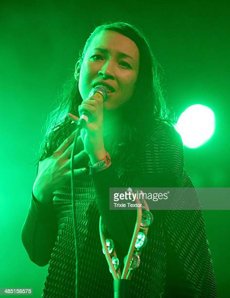 Musician Yukimi Nagano of the band Little Dragon performs onstage during day 3 of the 2014 Coachella Valley Music Arts Festival at the Empire Polo...