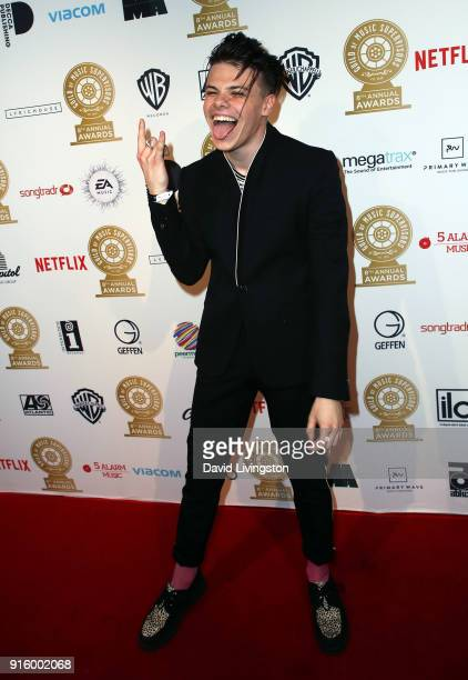 Musician Yungblud attends the 8th Annual Guild of Music Supervisors Awards at The Theatre at Ace Hotel on February 8 2018 in Los Angeles California