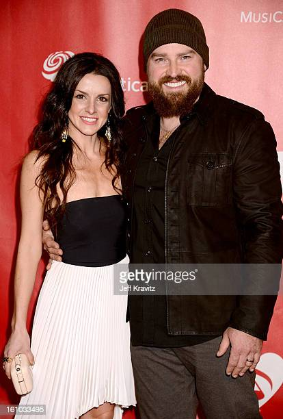 Musician Zac Brown and Shelly Brown attend the 2013 MusiCares Person Of The Year Honoring Bruce Springsteen at Los Angeles Convention Center on...