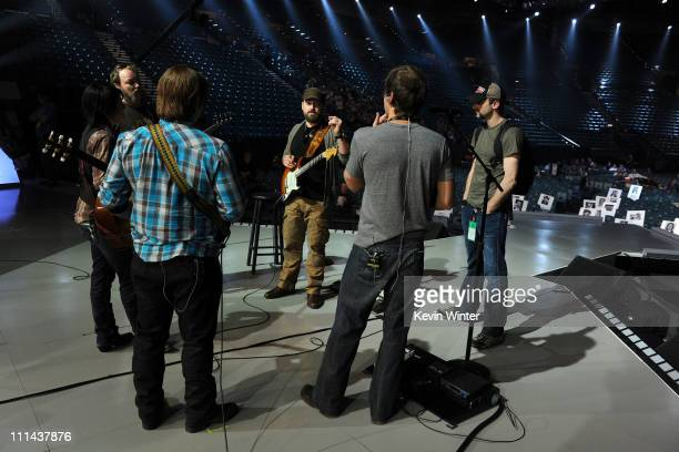 Musician Zac Brown and the Zac Brown Band rehearse onstage for the 46th Annual Academy Of Country Music Awards held at the MGM Grand Garden Arena on...