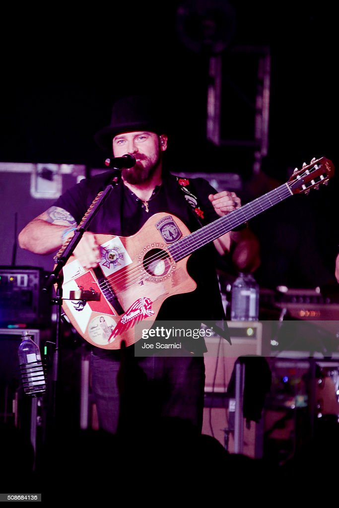 Musician Zac Brown of the Zac Brown Band performs at Bleacher Report's 'Bleacher Ball' presented by go90 at The Mezzanine prior to Sunday's big game on February 5, 2016 in San Francisco, California.