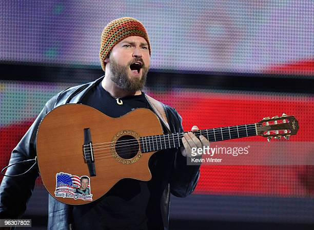 Musician Zac Brown of the Zac Brown Band performs onstage during the 52nd Annual GRAMMY Awards held at Staples Center on January 31 2010 in Los...