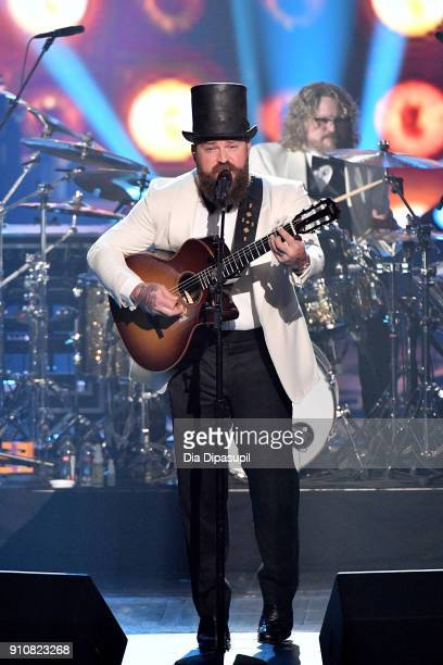 Musician Zac Brown of Zac Brown Band performs onstage during MusiCares Person of the Year honoring Fleetwood Mac at Radio City Music Hall on January...