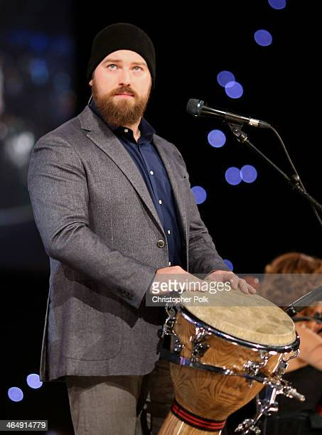 Musician Zac Brown performs onstage at 2014 MusiCares Person Of The Year Honoring Carole King at Los Angeles Convention Center on January 24 2014 in...