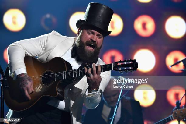 Musician Zac Brown performs onstage at MusiCares Person of the Year honoring Fleetwood Mac at Radio City Music Hall on January 26 2018 in New York...