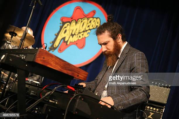 Musician Zac Rae of Death Cab for Cutie performs onstage for the release of their new album 'Kintsugi' at Amoeba Music on March 31 2015 in Hollywood...