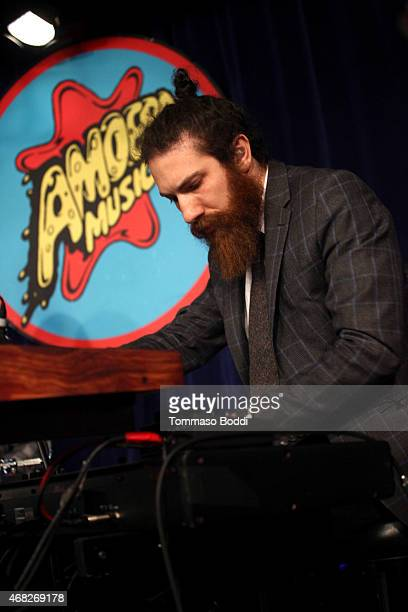 Musician Zac Rae of Death Cab For Cutie perorms at Amoeba Music for the release of their new album 'Kintsugi' held at Amoeba Music on March 31 2015...