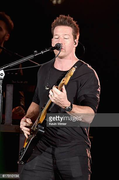 Musician Zach Filkins of OneRepublic performs onstage during CBS RADIO's fourth annual We Can Survive concert at the Hollywood Bowl on October 22...