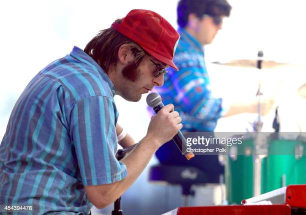 Musician Zach Miller of Dr Dog performs on the Dylan Stage during day 1 of the 2014 Budweiser Made in America Festival at Los Angeles Grand Park on...