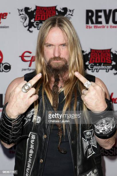 Musician Zakk Wylde arrives at the 2nd Annual Revolver Golden Gods Awards at Club Nokia on April 8 2010 in Los Angeles California