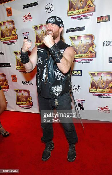 Musician Zakk Wylde arrives at the Vegas Rocks Magazine Awards Show on August 26 2012 in Las Vegas Nevada
