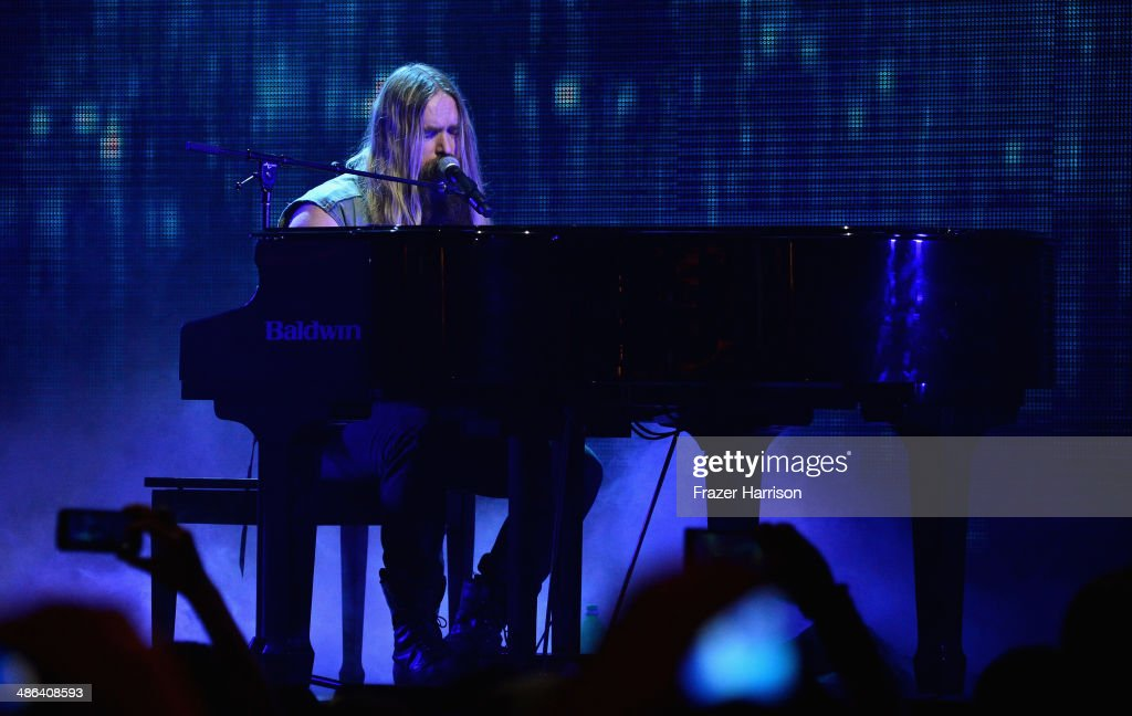 Musician Zakk Wylde performs onstage at the 2014 Revolver Golden Gods Awards at Club Nokia on April 23, 2014 in Los Angeles, California.