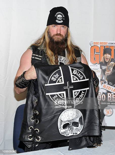 Musician Zakk Wylde promotes Order Of The Black at Hudson News inside Grand Central Terminal on August 20 2010 in New York city