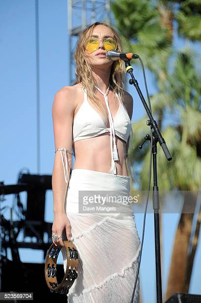 Musician Zella Day performs onstage during day 2 of the 2016 Coachella Valley Music Arts Festival Weekend 2 at the Empire Polo Club on April 23 2016...